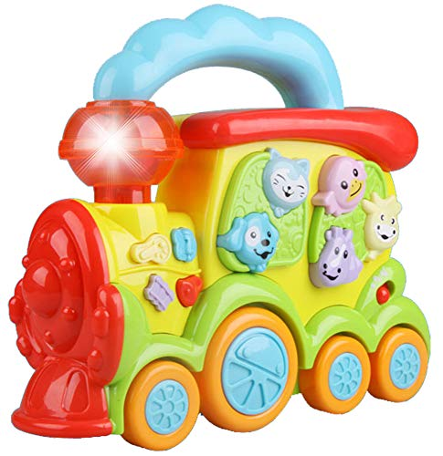 Liberty Imports Preschool Electronic Learning Train - Baby Educational Musical Piano Set with Realistic Animal Sound Effects for Infants and Toddlers