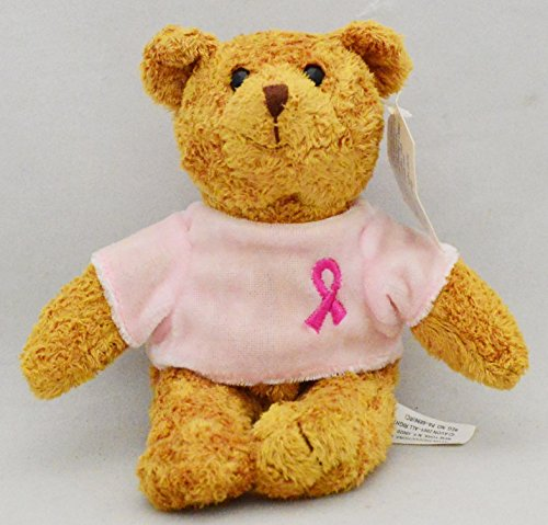 Avon Breast Cancer Crusade Plush Teddy Bear Stuffed Animal Pink Ribbon Shirt