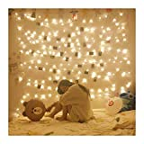 gazebo curtains diy KOBWA 33ft 100leds Copper Wire String Lights Fairy String Lights 8 Modes LED String Lights USB Powered with Remote Control for Wedding Party Chirstmas Home Decor, White