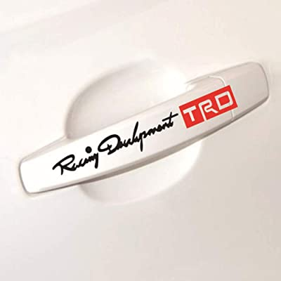 YIKA TRD Car Door Sticker Decal Personality Side Skirt Decals Sticker Creative Decals Vinyl Sticker for Toyota Carola and Any SUV,Truck or Sedan Car(Black + red): Automotive
