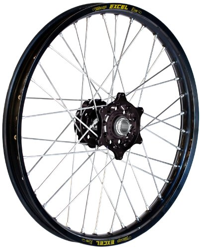 - Dubya Talon Black Hub with Excel Takasago Black Rim Painted Finish Front Wheel (1.60x21