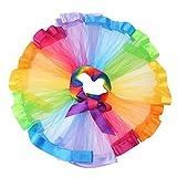 Chinatera Kids Girls Rainbow Ballet Tutu Skirt Layered Ruffle Dress For Birthday Gift Performance