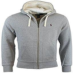 Polo Ralph Lauren Classic Full-Zip Fleece Hooded Sweatshirt X-Large Gray