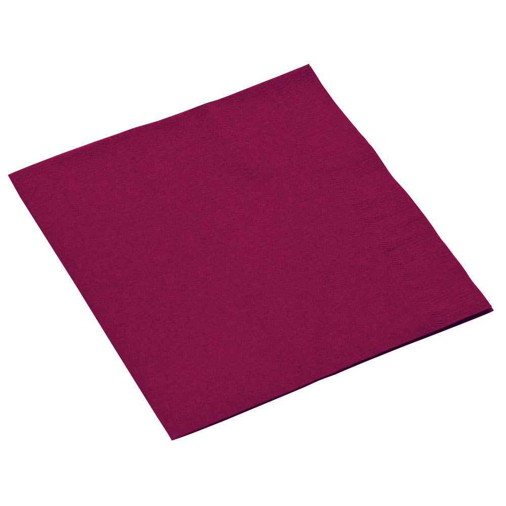 Disposable 3-Ply Luncheon Party Napkins Tableware, Berry Red, Paper , 6'' x 6'', Pack of 20 by Amscan