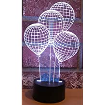 AMPERSAND SHOPS LED Optical Illusion Laser Cut Precision Magical 3D Balloon Lights Lamp