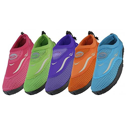 Wholesale Girl's Aqua Socks children's water shoes kids swimming, pool, beach, yoga, exercise by LF Wear