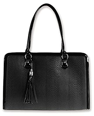 BfB Laptop Notebook Computer Shoulder Bag For Women - Lightweight Hand Made Briefcases With Up To 17 Inch Laptop Sleeve - Designed For Busy Working Women - Business Can Be Beautiful