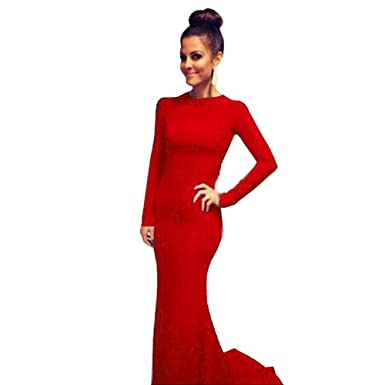 Amazon Ropalia Womens Formal Evening Gown Long Sleeve Prom Ball