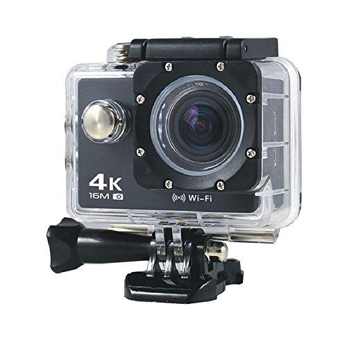 Boblov AT-30 Full-HD 4K @ 30fps 1080P @ 60fps 173-Grad-Weitwinkel 16MP WiFi Sport-AKtion-Kamera DVR (Schwarz)
