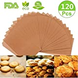 Parchment Paper Cookie Baking Sheets, 120 PCS Baking Parchment Paper Precut Cooking paper for baking Non-Stick & Unbleached,No Curl or Burn, Non-Toxic for Cook, Grill, Steam, Pans (12x16 Inch)