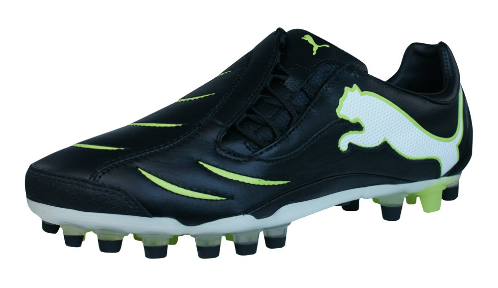 PUMA Powercat 2.10 Synth Grass Mens Leather Soccer Boots/Cleats - Black-Black-10.5 by PUMA