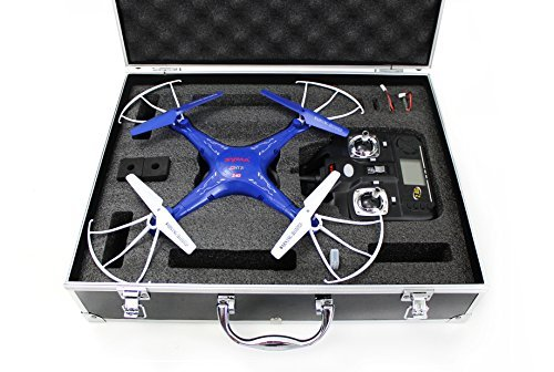 Syma-X5C-1-Quadcopter-Drone-Blue-Bundle-with-Carrying-Case-and-extra-batteries-Newest-2015-X5C-1-version