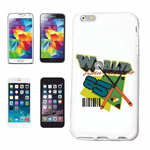"""cas de téléphone iPhone 6S """"Snoker BILLARD BILLES BILLARD Les Billards Table de billard Table QUEUE"""" Hard Case Cover Téléphone Covers Smart Cover pour Apple iPhone en blanc"""