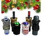 JFFCESTORE Fun Novelty Beverage Cover £¬Beer Vest Beverage Cooler Strap Adjustable Mini Tactical Vest Molle Beer Holder with Molle Webbing for 12oz or 16oz Cans or Bottles