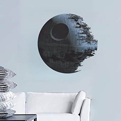 TIVOPA Starwar Death Star 3D Wall Stickers Removable Creative Living Room Bedroom Background Home Decoration Kids Art Decal Poster: Kitchen & Dining