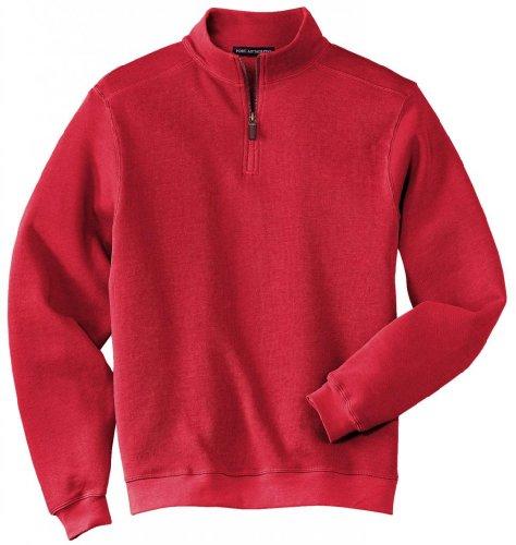 Port Authority®- Flatback Rib 1/4-Zip Pullover, True Red, 4XL