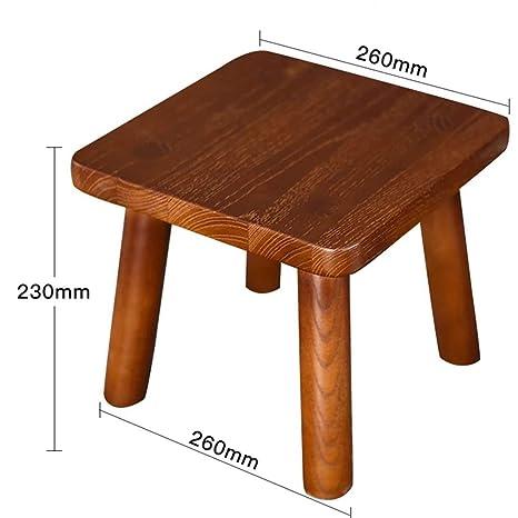 Amazon.com: ZHANGQIANG Taburete de madera de colores para ...