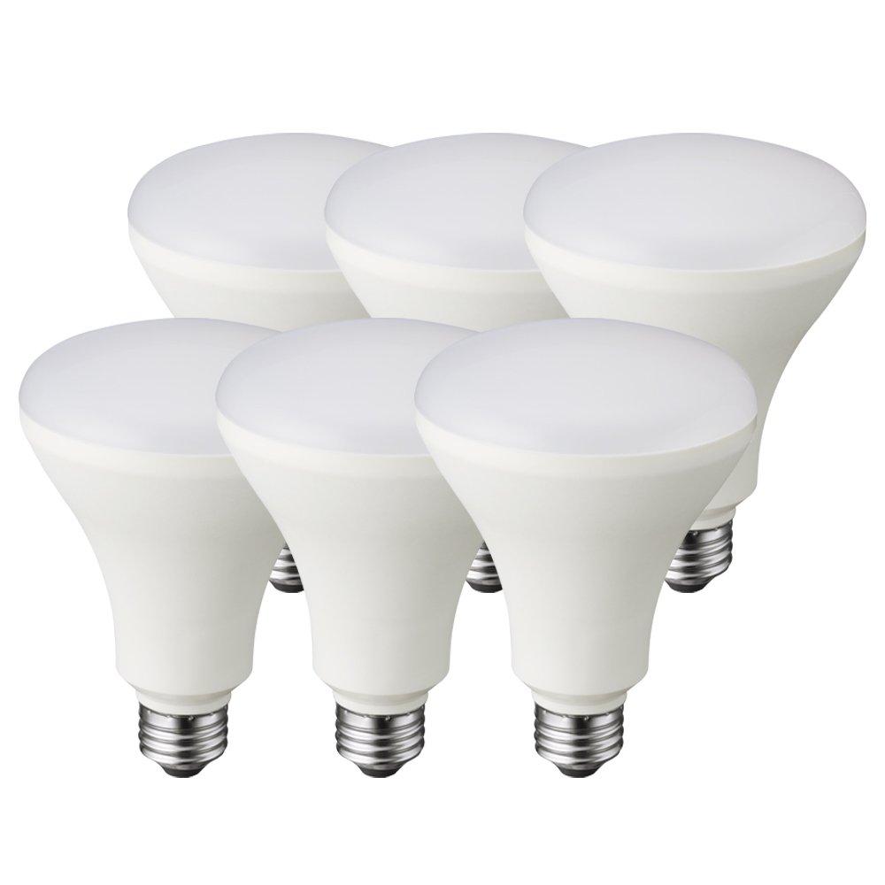 Premalux LED 65W BR30 6 Pack, Soft White, Dimmable, Energy Star Rated, Medium Screw Base (E26), Flood Light Bulbs …