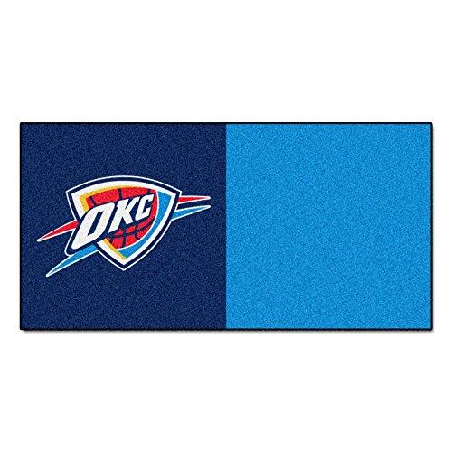 FANMATS NBA Oklahoma City Thunder Nylon Face Team Carpet Tiles by Fanmats