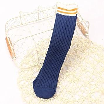 ZYTAN Calcetines Infantiles, bandas de bebé, un tubo largo, algodón,Deep Blue