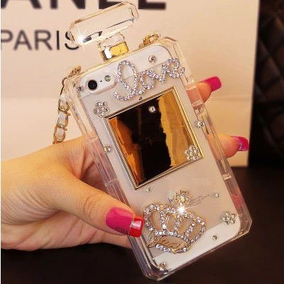 best sneakers 1435e 44cfb Amazon.com: iPhone 8 Plus Perfume Bottle Case with Chain,3D Crown ...