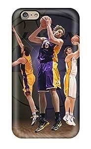 Diy Yourself DanRobertse iPhone 6 plus 5.5 Hybrid Tpu case cover Silicon Bumper XyDPnZn7KDH Los Angeles Lakers Nba Basketball