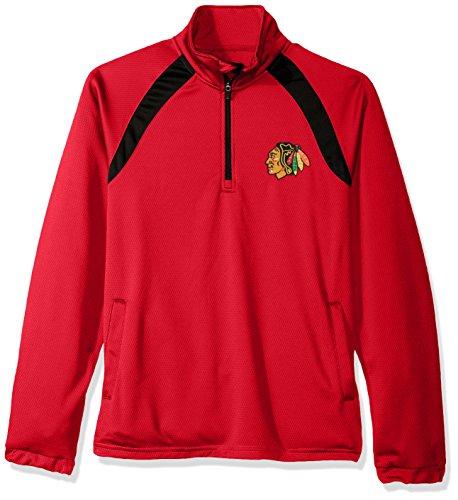 G-III Sports NHL Chicago Blackhawks Men's High Impact Half Zip Pullover, XX-Large, Red