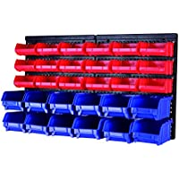 MaxWorks 80694 30-Bin Wall Mount Parts Rack/Storage for...