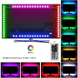 #6: Topled Light LED TV USB Backlight Light Kit,Computer RGB LED Light Strip Mini Kit, Multicolor RGB LED Tape bias Lighting Strip Kit With Remote Controller(USB Backlight Kit)