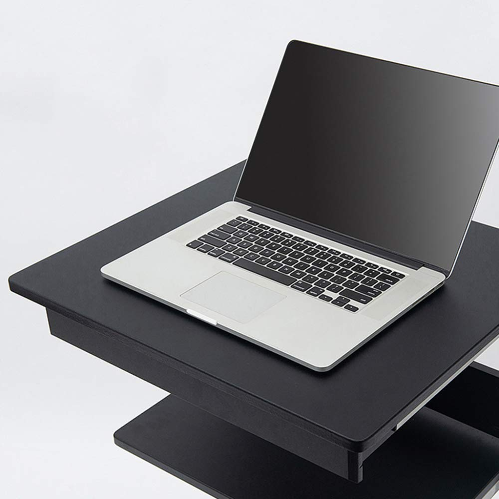 LIULIFE Mobile Computer Desk On Wheels Writing Desk PC Table for Small Spaces, Workstation for Home Office,White by LIULIFE (Image #5)
