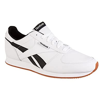 492df18f1d6 Reebok Classic royal CL jogger white black synthetic leather sports trainers  SIZE 8  Amazon.co.uk  Shoes   Bags