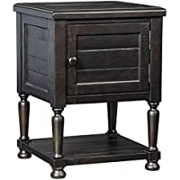 Signature Design by Ashley T835-2 Sharlowe Square End Table, Charcoal