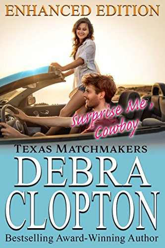 If you love Christian romance that'll warm your heart, make you smile and laugh out loud ~ this is the series for you!  Surprise Me, Cowboy by Debra Clopton