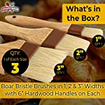 Restaurant-Grade Boar Hair Pastry and Basting Brush Set of 3 (1, 2 and 3 Inch). Ultra-Fine Hardwood Flat Brushes for Spreading Butter, Egg Wash or Marinade to Pastries, Dessert, Bread Dough or Meat 9 MAKE BAKING A BREEZE WITH PRO-GRADE PASTRY BRUSHES! These restaurant-grade flat brushes are perfect for applying glaze or egg wash to bread dough and desserts. Grease pans and cookie sheets with ease! GENUINE HARDWOOD AND BOAR HAIR FOR NATURAL, DURABLE TOOLS. Equipped with a solid wood handle contoured for comfort, and boar hair bristles reinforced with a BPA-free plastic band for long lasting use. GUARANTEED FOR LIFE. We offer a No-Nonsense Lifetime Satisfaction Guarantee on all our kitchen supplies. If at any point you're not 100% happy, just send us an email, and we promise to make it right!