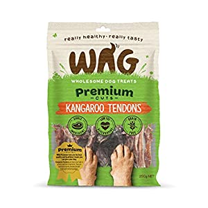 Kangaroo Tendons 200g, Grain Free Hypoallergenic Natural Australian Made Dog Treat Chew, Perfect for Training Click on image for further info.