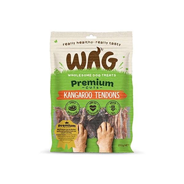 WAG Kangaroo Tendons, Grain Free Hypoallergenic Natural Australian Made Dog Treat Chew, Perfect for Training 1