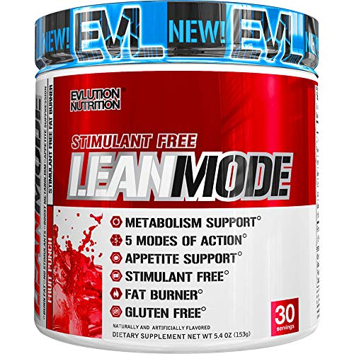 Evlution Nutrition Lean Mode Stimulant-Free Weight Loss Supplement with Garcinia Cambogia, CLA and Green Tea Leaf Extract, 30 Servings (Fruit Punch)