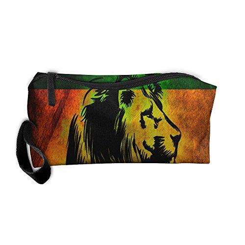 Reggae Bag - Reggae Rasta Lion Travel Toiletry Bag Zipper Bag Organizers