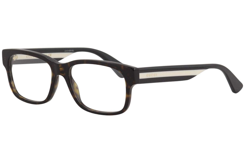 3a4305003c Gucci GG034O Havana Clear Lens Frame  Amazon.ca  Clothing   Accessories