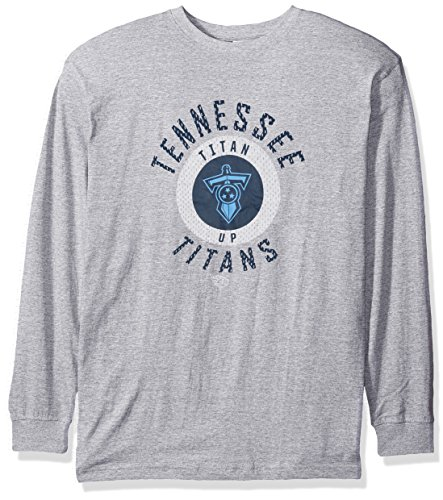 (NFL Tennessee Titans Men L/S TEE SCREEN TEE, GRY/HTHER, 3XT)