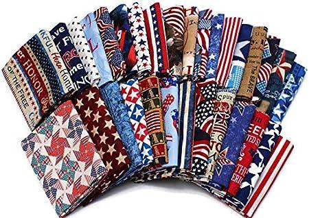 Fat quarter fabric bundles block colours snd stripe