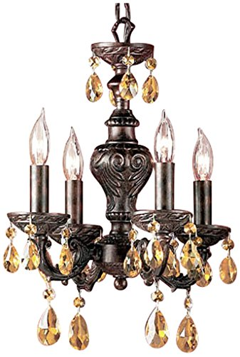 - Classic Lighting 8334 EB PAM Gabrielle, Crystal, Mini-Chandelier, English Bronze