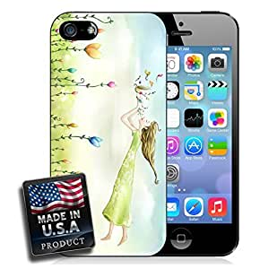 Colorful Musical Garden Flower Nymph iPhone 5/5s Hard Case