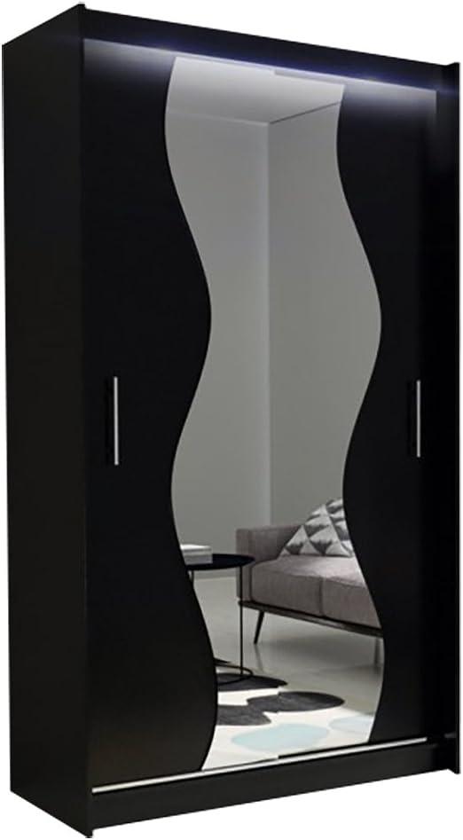 Ye Perfect Choice - Armario con Espejo AVA 10 S Moderno Armario Armario de Puertas correderas Dormitorio Armario Perchero Elegante Puerta Corredera Perchero Armario 120 cm: Amazon.es: Juguetes y juegos