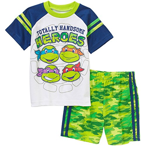 TMNT Ninja Turtles 2 Piece Top Tee and Shorts Outfit Baby Boys' 6-9 Months (Tmnt Outfit)