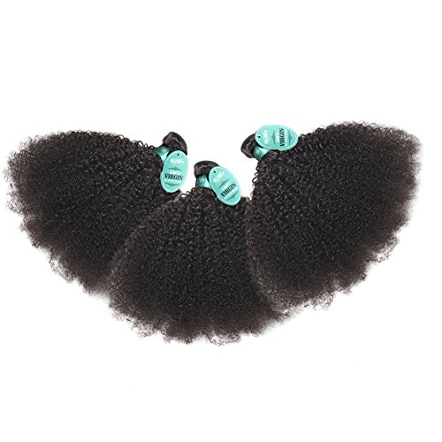 Afro Kinky Curly HmtAfro 300 Gram 9A Grade Natural Color Brazilian Hair Extensions (22'' 22'' 22'') by HmtAfro