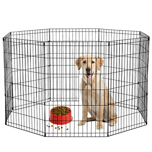 "BestPet 36"" Tall Dog Playpen Crate Fence Pet Kennel Play Pen Exercise Cage"