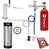 One Keg Tower Homebrew Draft Beer Kegerator Kit Ball Lock w/ Tank - EBSHTCKBALLKEG5T