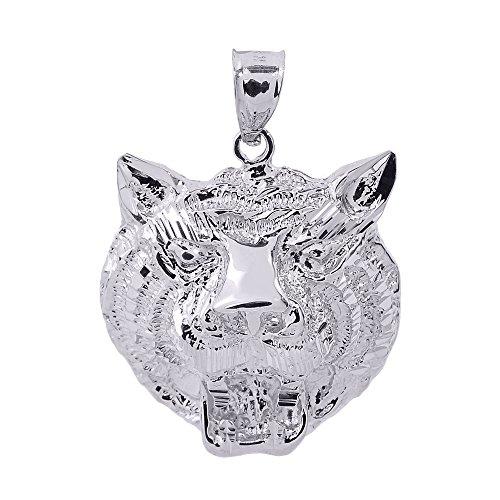 Petits Merveilles D'amour - 925 argent diamant -Tiger habitant à pendentif