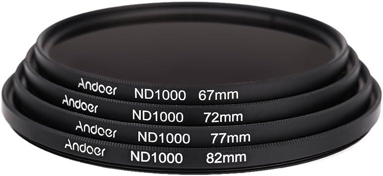 Andoer 72mm Nd1000 Nd Filter 10 Stop Fader Graufilter Kamera